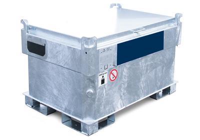 Kraftstoff-Container Typ KI-B in besonders kompakter Bauweise, 3-fach stapelbar