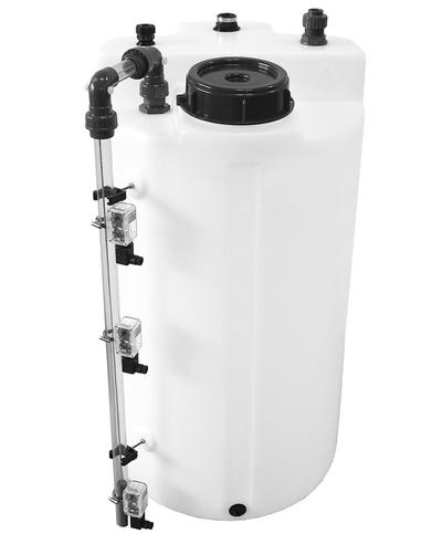 Füllstandanzeige für zylindrische Lager- und Dosierbehälter.