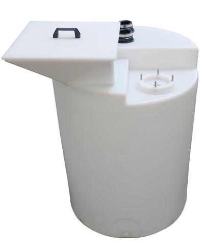 PE-Einfülltrichter mit Deckel, für Behälter ab 200 Liter Volumen.