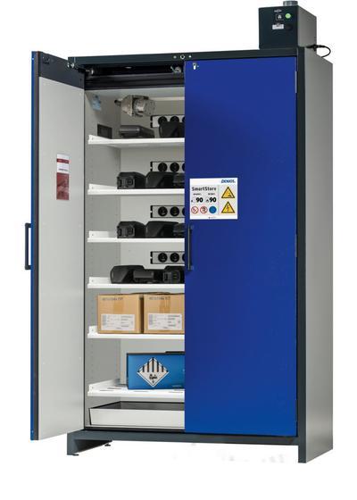 Der SmartStore bietet Brandschutz von innen und außen und verfügt über ein hochwertiges, 3-stufiges Warn-/Brandunterdrückungssystem