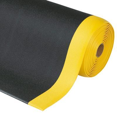 Vinylschaum mit strukturierter Oberfläche, schwarz mit gelben Sicherheitsrändern