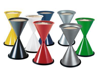 Konische Standascher aus Stahl, in 8 verschiedenen Farben und Edelstahl erhältlich
