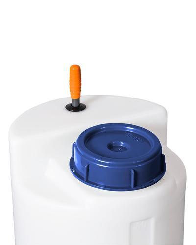 Handstampfmischer für zylindrische Behälter bis 1000 Liter Volumen.
