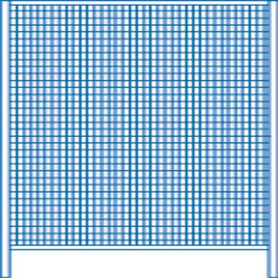 Wandelemente in 4 Breiten, Höhe: 2000 mm, Bodenfreiheit: 200 mm.