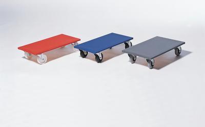 """Radvarianten: """"Poly"""" • aus Kunststoff • geeignet für glatte Böden • leicht laufend • lange Lebensdauer """"Gummi"""" • Vollgummi-Räder • geeignet für unebene Böden """"Gummi-+"""" • spurlose Vollgummi-Bereifung • schützt den Untergrund • auch für Teppichböden geeignet"""