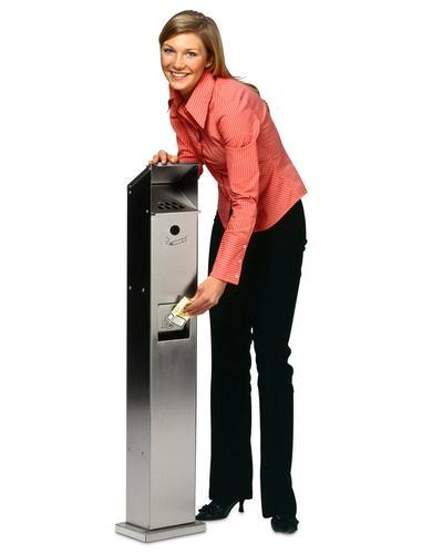 Elegante Abfall-Ascher-Säule für Außenbereiche