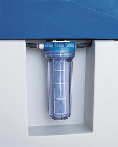 Optionales Zubehör: Ein Mehrweg-Filter (Feinheit 250 μm) hält feine Verunreinigungen zurück und verlängert so die Nutzdauer des Reinigers.