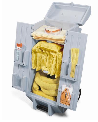 Bindemittel-Notfallset, Ausführung SPEZIAL, im Transportwagen