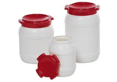 Weithalsfässer Typ WH zur sicheren Lagerung von Pulver und Pasten.