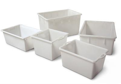 Rechteck-Behälter, 60 bis 220 Liter Volumen.