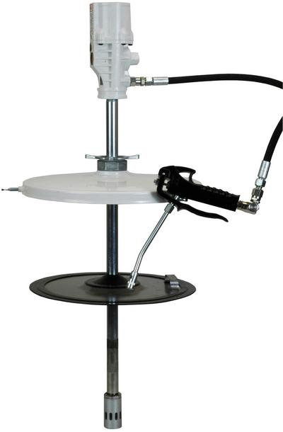 Stationäres Druckluft-Schmiergerät Typ PS mit Sicherheits-Abschmierschlauch 4 m.