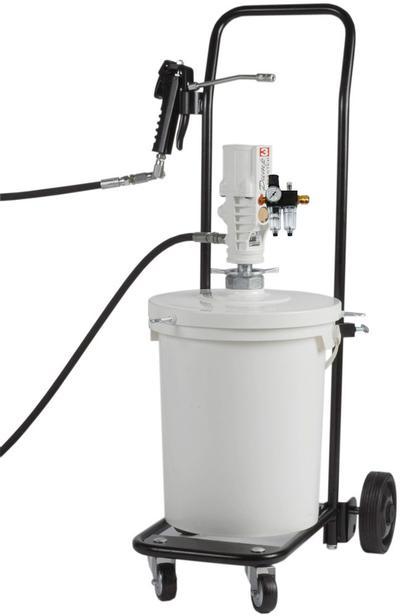 Mobiles Druckluft-Schmiergerät Typ PM mit Sicherheits-Abschmierschlauch 4 m. (Behälter nicht im Lieferumfang)