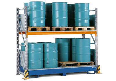 Combi-Regal Typ S, für bis zu 24 Fässer à 200 Liter