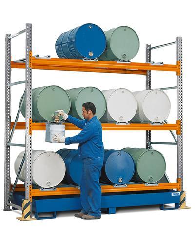Combi-Regal Typ L, für bis zu 12 Fässer à 200 Liter