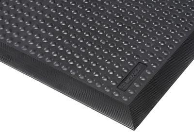 Ableitfähige Anti-Ermüdungsmatte zum Schutz vor statischer Aufladung. Die Noppen und das hochwertige Gummimaterial ermöglichen einen hohen Stehkomfort.