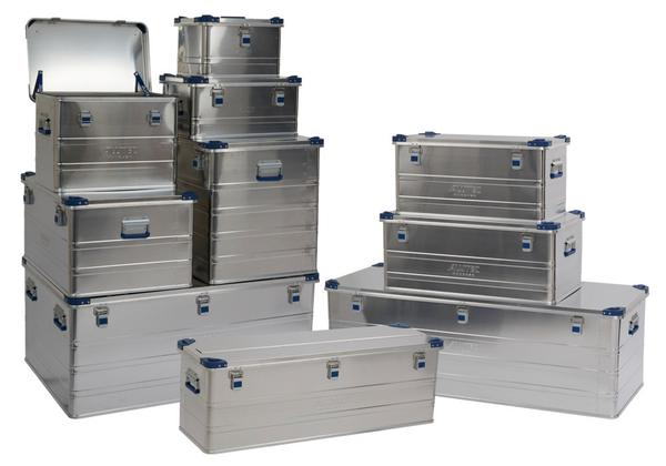 Aluminium-Transportboxen mit Stapelecken
