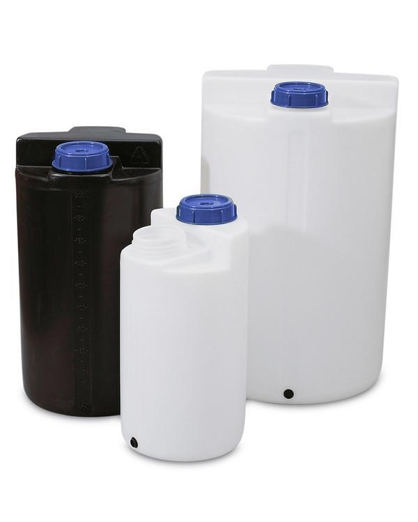 Lager- und Dosierbehälter mit einem Auffangvolumen von 200 bis 500 Liter