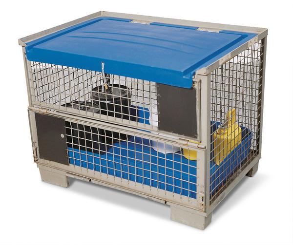 EUR-Gitterbox-Tauschpalette (Abdeckung und Wanne optional lieferbar)
