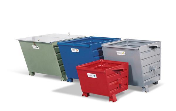 Schüttgutbehälter in verschiedenen Größen und Farben