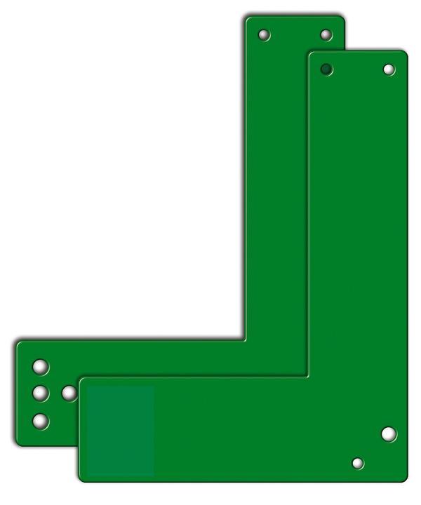 Montageplatte für die Montage an Glasrahmen. Für rechts oder links angeschlagene Türen verwendbar.