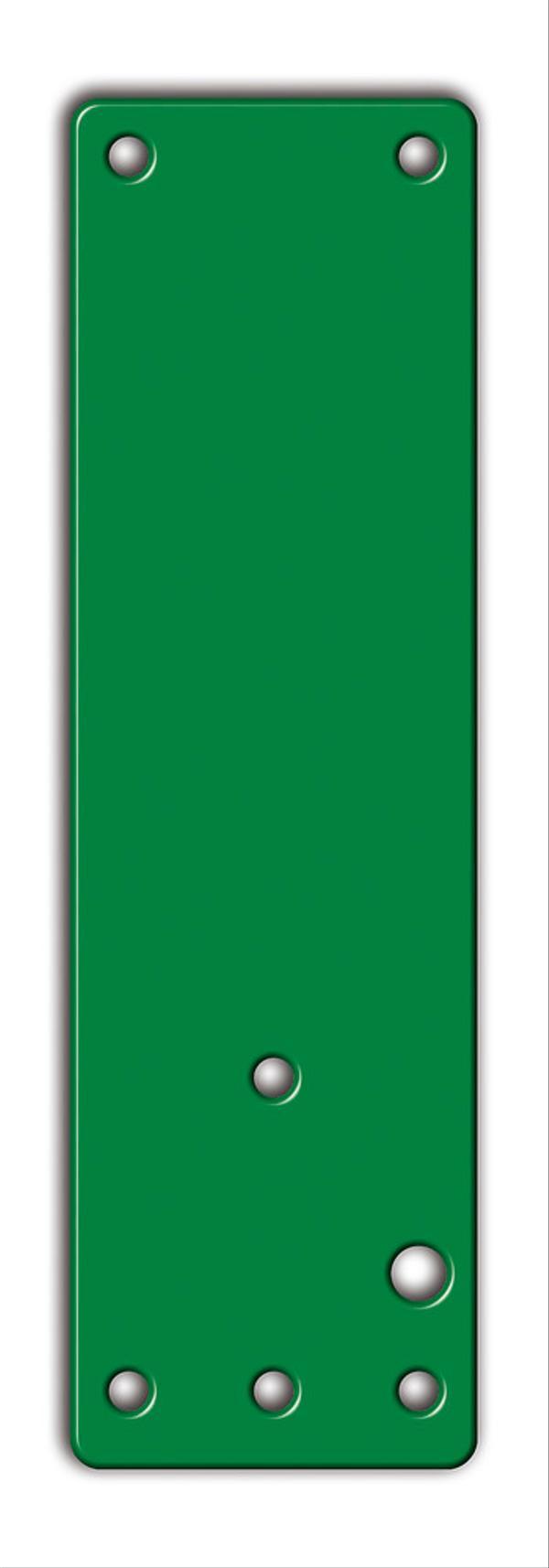 Montageplatte aus Stahl für Standard- und Brandschutztüren. Für rechts oder links angeschlagene Türen verwendbar.