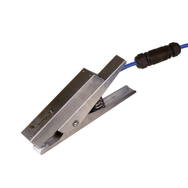 Erdungszange Typ BR, mit LED-Signalleuchte.