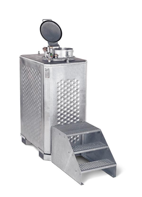 Multisammler Typ MS 13, 1300 Liter Volumen, in verzinkter Ausführung, (Bedienpodest optional lieferbar)
