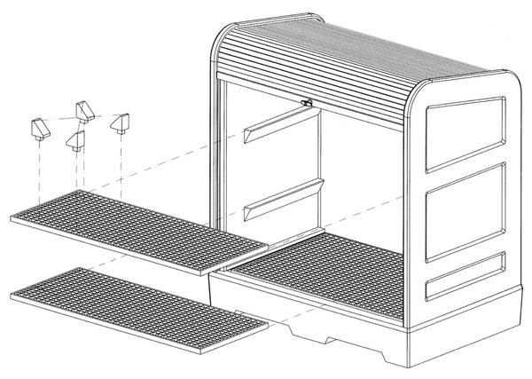 Gitterrostböden, verzinkt oder aus Polyethylen