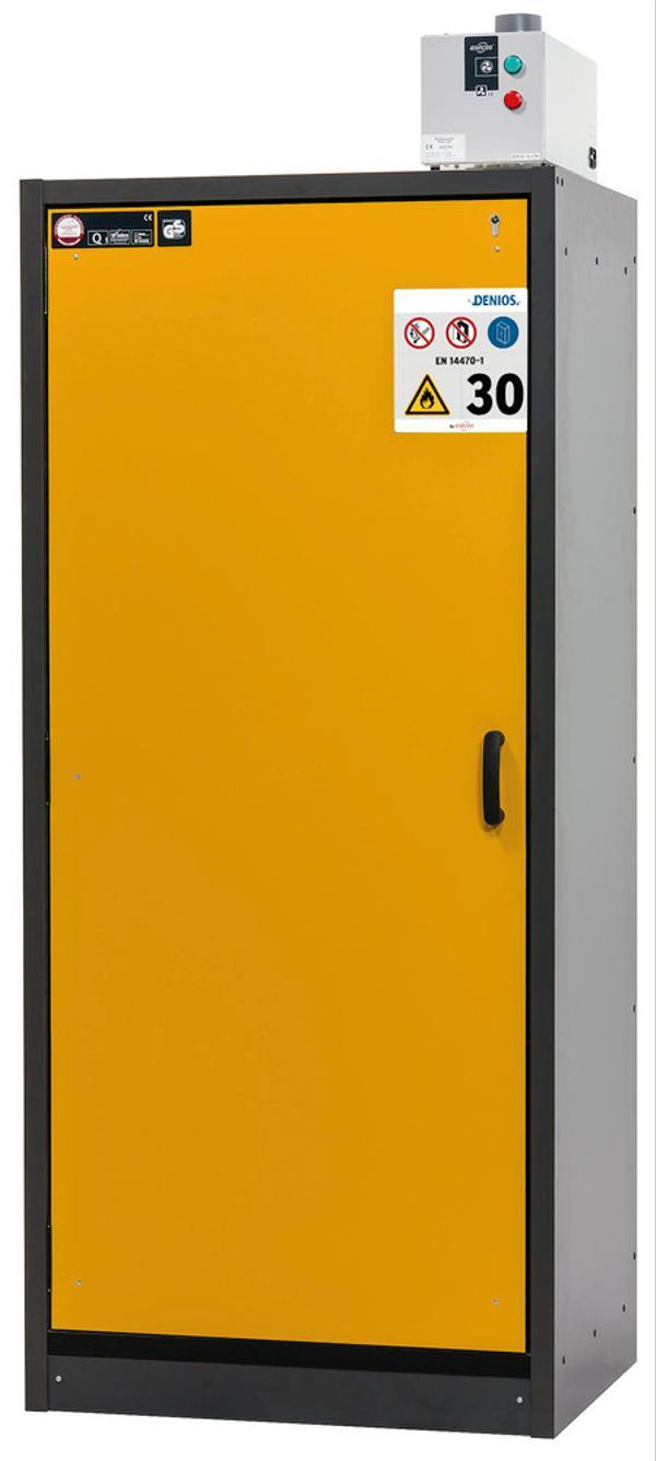 Als Türfarbe stehen neben sicherheitsgelb (RAL 1004) weitere Farben zur Auswahl, siehe auch linke Seite.